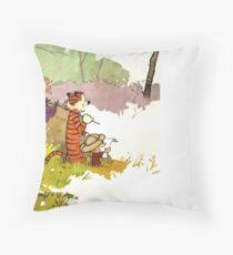 Calvin and Hobbes Adventure Throw Pillow