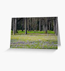 Frühling im Park Greeting Card