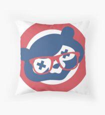 Drunken Cubbie Throw Pillow