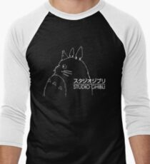 Studio Ghibli Inspired Totoro Men's Baseball ¾ T-Shirt
