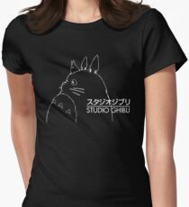 Studio Ghibli Inspired Totoro Women's Fitted T-Shirt