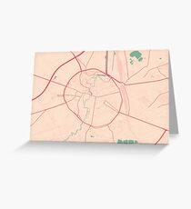 Leuven Map (Springtime) Greeting Card
