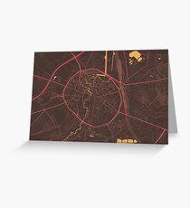Leuven Map (Summer) Greeting Card