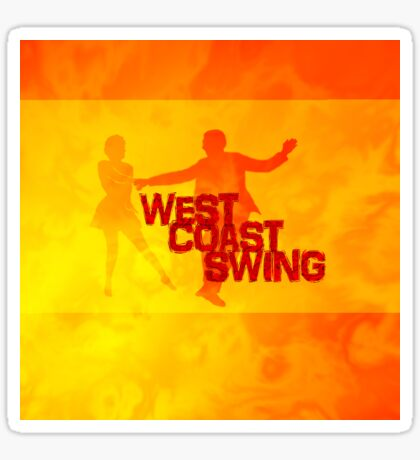 West Coast swing Sticker