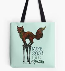 Flounce, the Fox on Stilts (Sky) Tote Bag