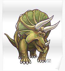Animal Parade Triceratops Poster