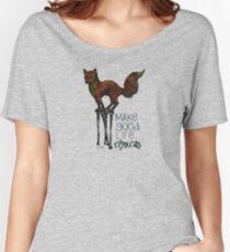 Flounce, the Fox on Stilts (Sky) Women's Relaxed Fit T-Shirt