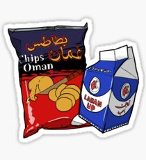 Oman Chips and Laban Up Duo Sticker
