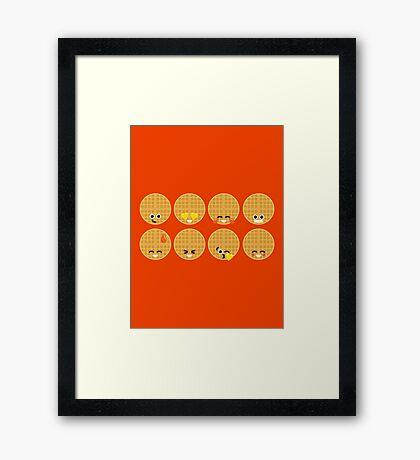 Emoji Building - Waffles Framed Print