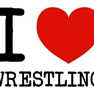 I heart Wrestling by dovpanda