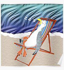 Seaside Nap Poster