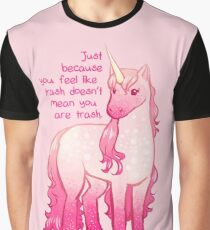 """You Aren't Trash"" Unicorn Graphic T-Shirt"