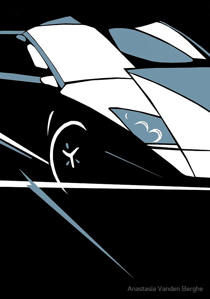 Abstract Car (Lamborghini) By Anastasia Vanden Berghe