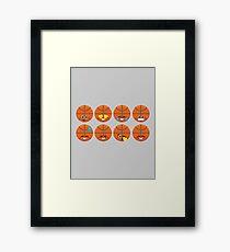 Emoji Building - Basketball Framed Print