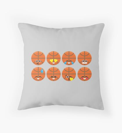 Emoji Building - Basketball Throw Pillow