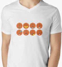 Emoji Building - Basketball Mens V-Neck T-Shirt