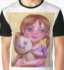 Girl and cuddly teddy Graphic T-Shirt