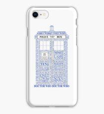 Doctor Who Typography Tardis iPhone Case/Skin