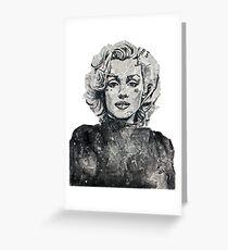 Newspaper Print of Marilyn Monroe Greeting Card