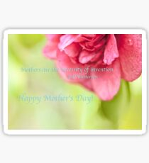 Mothers Day Camellia Quote Sticker
