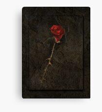 Blood Rose 2 Canvas Print