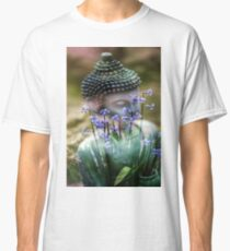 Buddha with Flower Asia Blooms Classic T-Shirt
