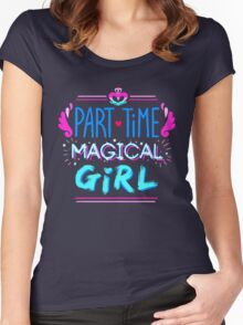 Kingdom Heart Part Time Magical Girl Women's Fitted Scoop T-Shirt