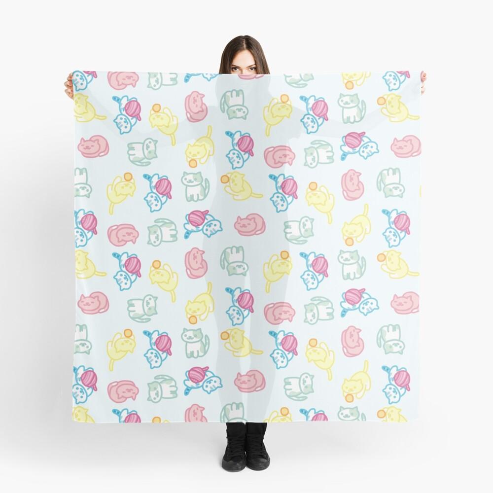 Pastell Neko Atsume Muster Tuch