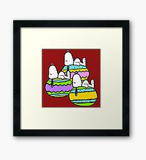 Snoopy Easter  Framed Print
