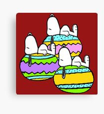 Snoopy Easter  Canvas Print