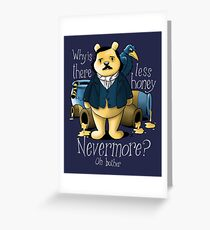 Edgar Allan Pooh Greeting Card