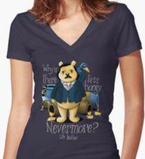 Edgar Allan Pooh Women's Fitted V-Neck T-Shirt