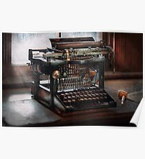 Steampunk - Typewriter - A really old typewriter  Poster
