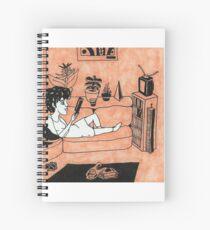 Solitude in Orange Spiral Notebook