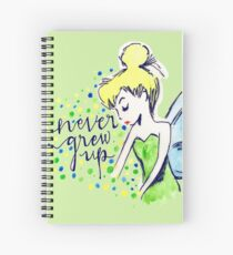 Never Grew Up Tink Colour Spiral Notebook