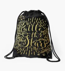 Rattle The Stars - in Gold Foil Drawstring Bag