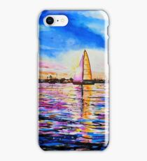 Sunset Sail Newport Beach iPhone Case/Skin