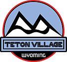 Teton Village Wyoming Skiing Ski Mountain Art by MyHandmadeSigns