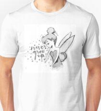 Never Grew Up Tink BW Unisex T-Shirt