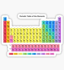 periodic table of the elements sticker - Periodic Table Of Elements Gifts