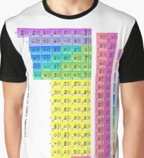 Detailed Periodic Table of the Elements Graphic T-Shirt