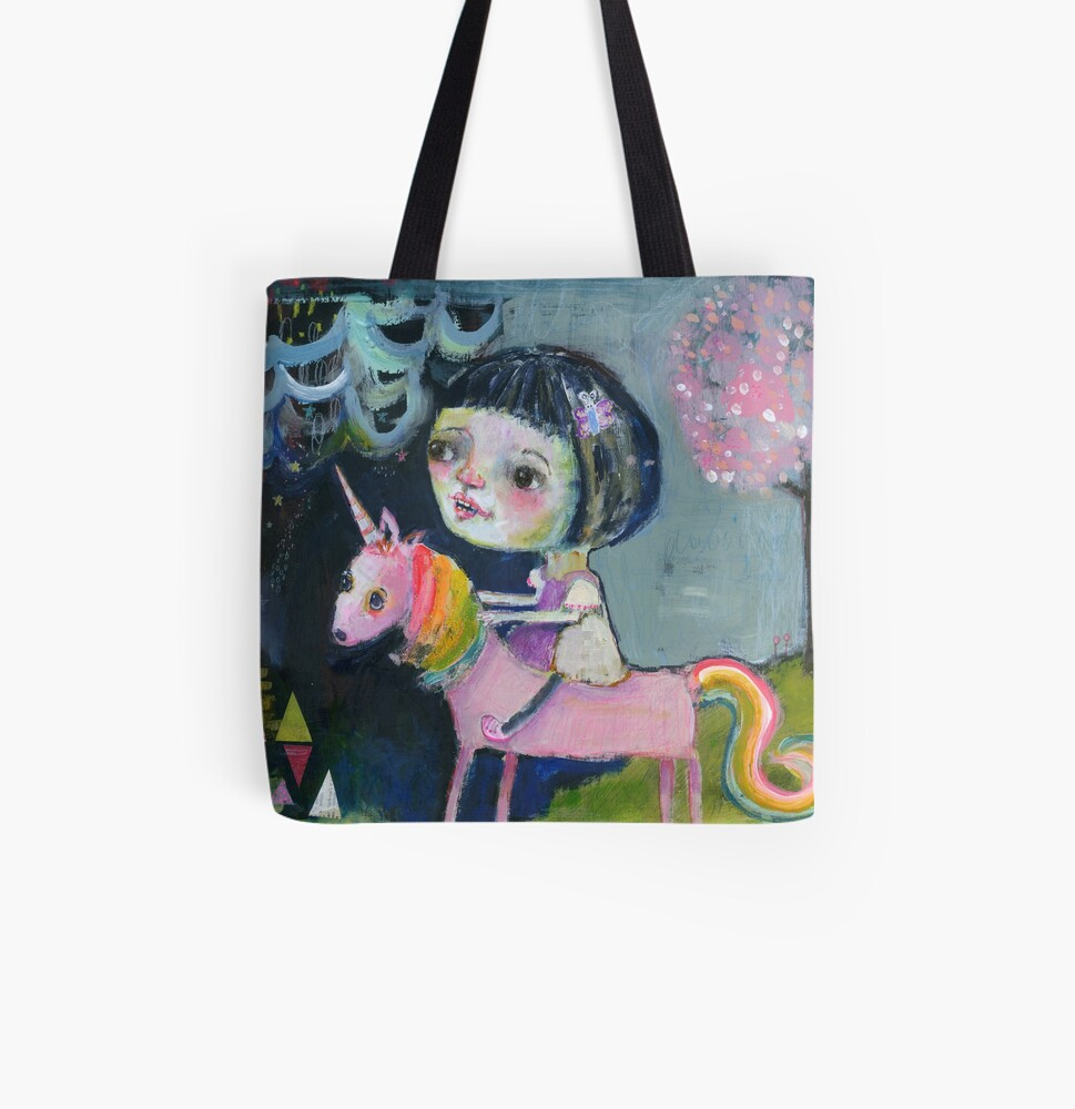 I ride upon my own Magic All Over Print Tote Bag