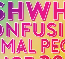 GISHWHES - Confusing Normal People Since 2011 (Rainbow) Sticker
