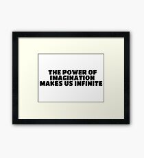 Artistic Creative Inspirational Saying Framed Print