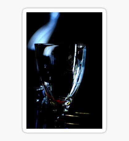 A glass without wine Sticker