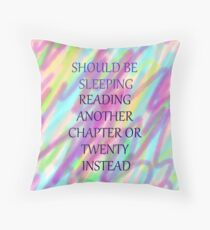 Should be sleeping but... Throw Pillow