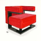 F-51 armchair - Watercolor painting   by Eugenia Alvarez
