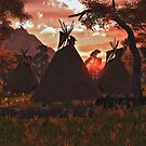 Tepee Sunset by Walter Colvin