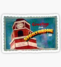 Greetings From Storybrooke Post Card Sticker