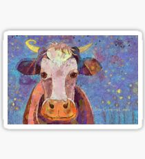 THE COW WITH THE CRUMPLED HORN Sticker
